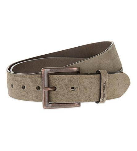 DIESEL B-solid leather belt (Grey