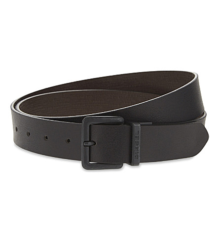 DIESEL B-twin reversible leather belt (Black