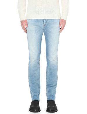 DIESEL Buster 0666 distressed slim-fit tapered jeans