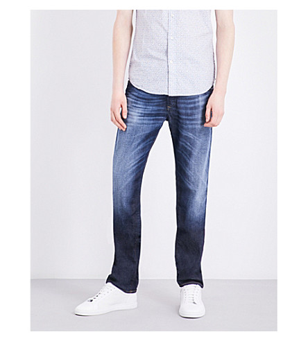 DIESEL Buster slim-fit tapered jeans (Denim+blue