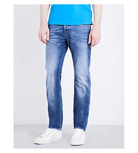 DIESEL Buster slim-fit tapered jeans (Denim+blue