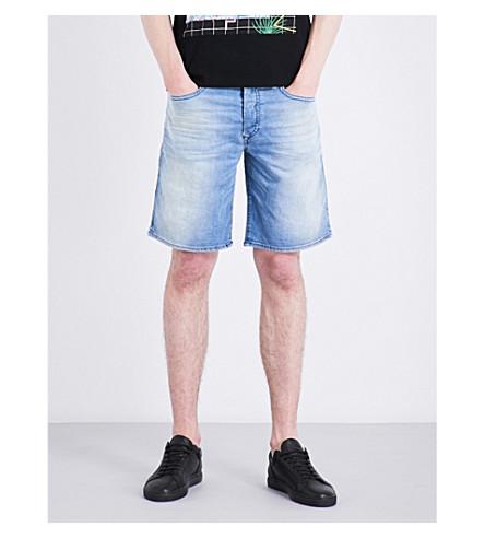 DIESEL Bustshort slim-fit tapered stretch-denim shorts (Blue