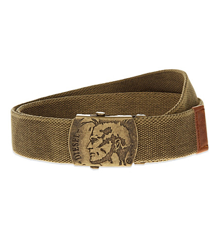 DIESEL B-washy fabric belt (Tan