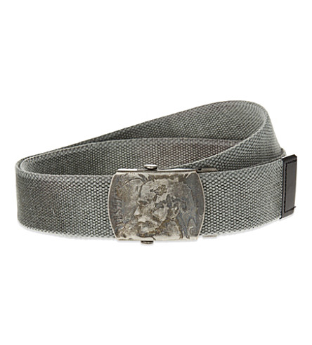 DIESEL B-washy fabric belt (Grey