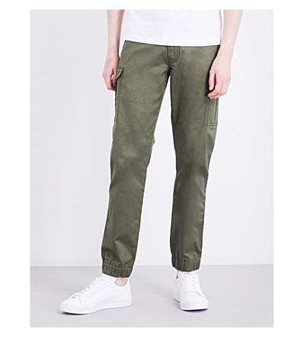 DIESEL Chi-united straight loose-fit stretch-cotton trousers (Olive+night