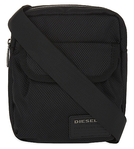 DIESEL F-close zipped crossbody (Black