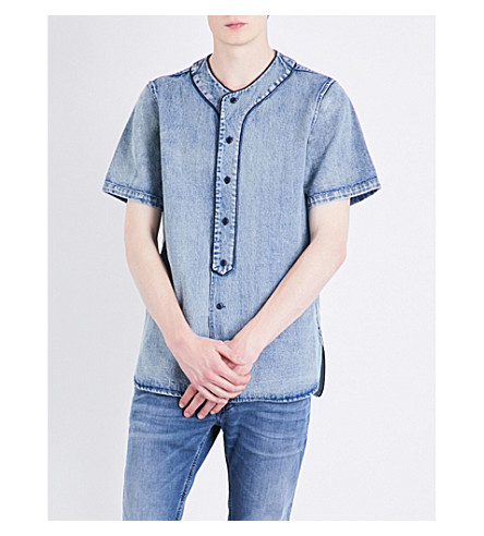 DIESEL D-bow denim shirt (Blue