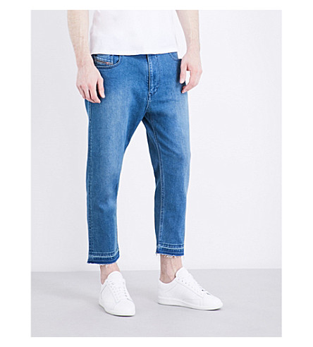 DIESEL D-Brad regular-fit tapered jeans (Blue