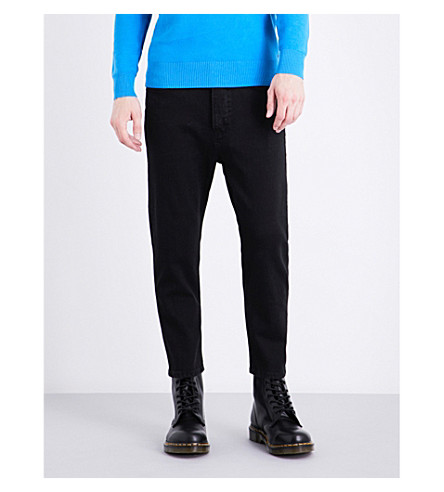 DIESEL D-Brad regular-fit tapered jeans (Black