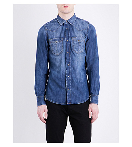 DIESEL D-Broome regular-fit denim shirt (Blue