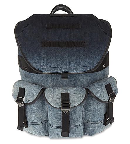 DIESEL De-breaking denim backpack (Denim