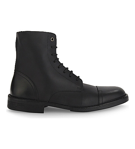 DIESEL D-Pit leather boots (Black