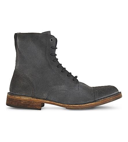 DIESEL D-Pit suede boots (Castlerock