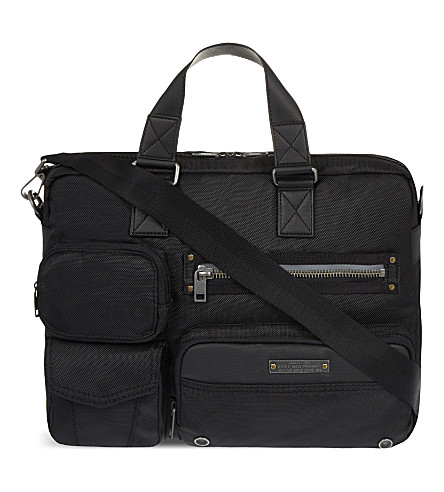 DIESEL Gear zipped briefcase (Black