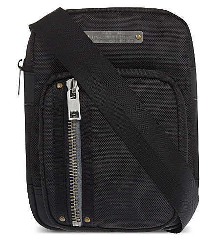 DIESEL Gear zipped cross-body bag (Black