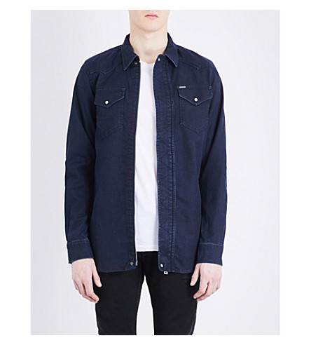 DIESEL Jaden JoggJean stretch-cotton shirt (Denim+blue