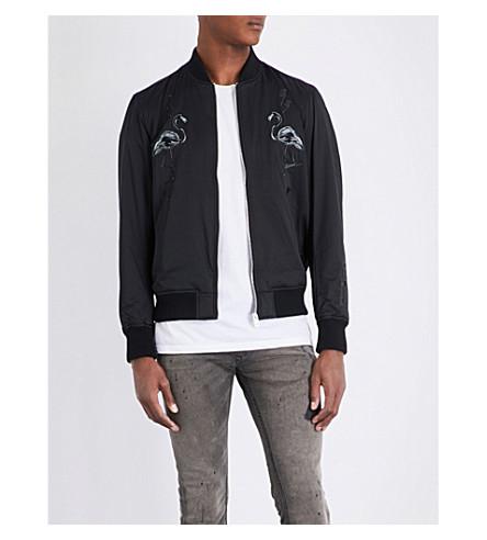 DIESEL J-flam satin bomber jacket (Black