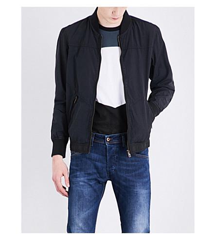 DIESEL J-pat cotton-blend bomber jacket (Black