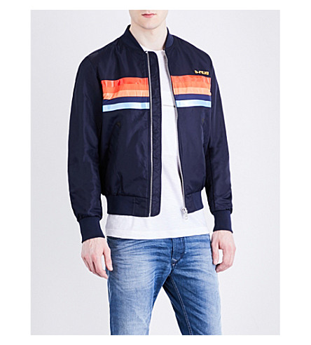 DIESEL J-Slater shell jacket (Peacoat+blue