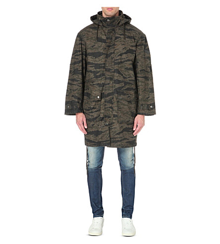 DIESEL J-tiger camouflage-print cotton coat (Camo
