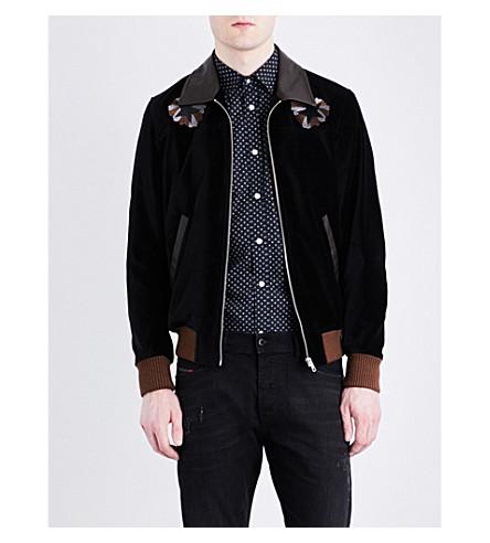 DIESEL J-Varadero embroidered velvet jacket (Black