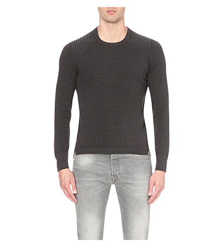 DIESEL K-bonis cotton-blend jumper (Grey