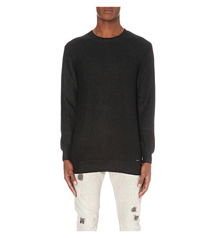 DIESEL K-Corium cotton jumper (Black