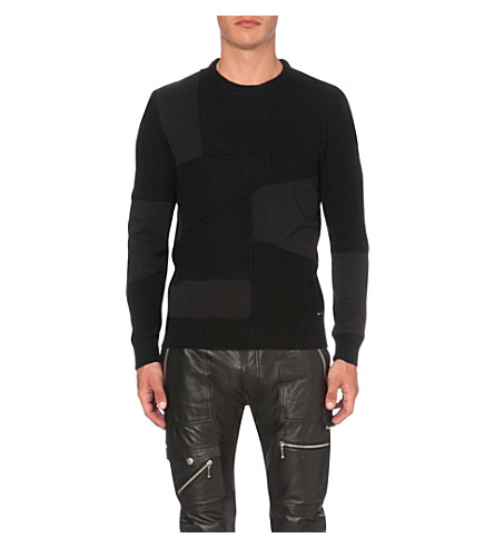 DIESEL K-Imonia wool-blend jumper (Black