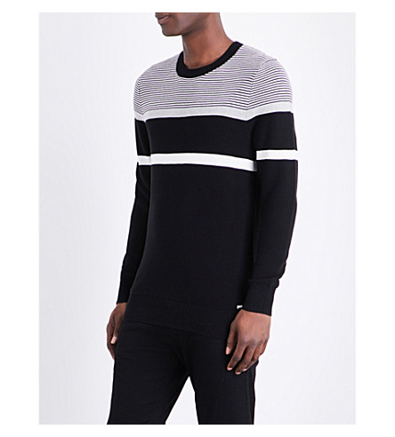DIESEL K-kat knitted cotton sweater (Black