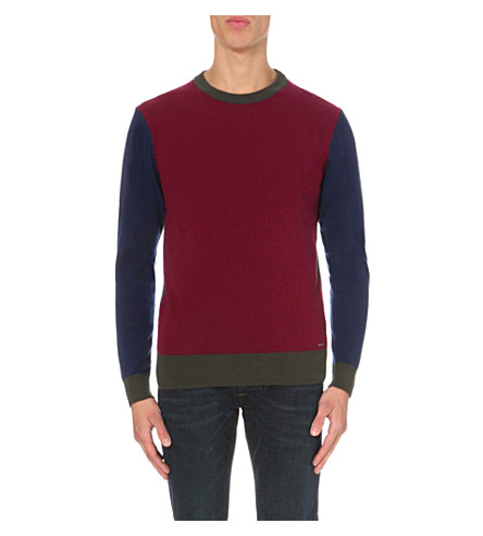DIESEL K-magistris wool-blend jumper (Red