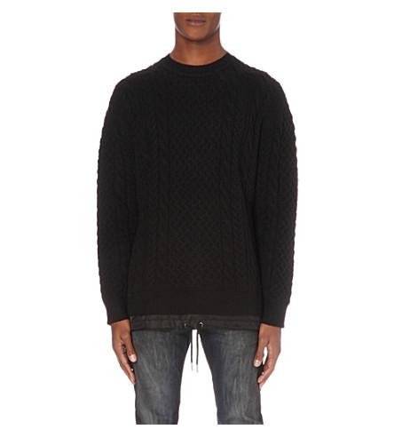 DIESEL K-Pigris wool-blend knitted sweater (Black