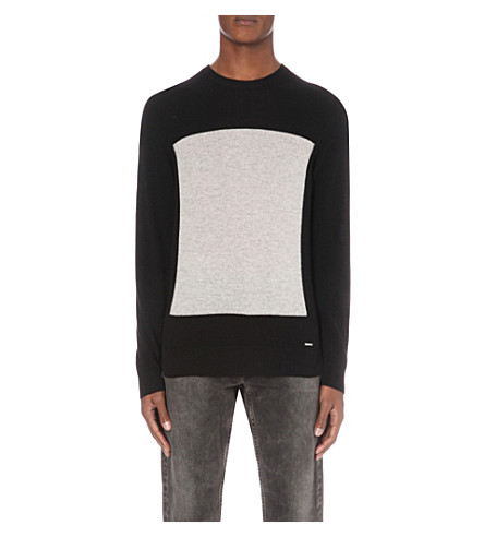 DIESEL K-Resoluta wool and cashmere blend jumper (Black