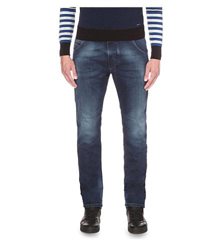 DIESEL Krooley-ne 0674y 修身版型紧身牛仔裤 (牛仔布