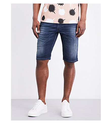 DIESEL Krooshort-ne stretch-cotton shorts (Denim+blue