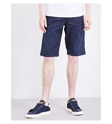 DIESEL Kroshort-ne relaxed-fit stretch-jersey shorts (Denim+blue