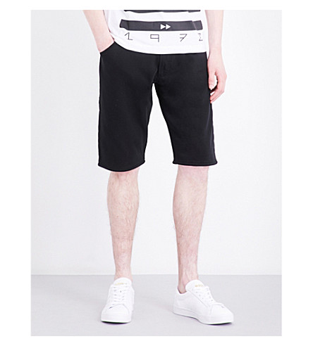 DIESEL Kroshort-a loose-fit cotton shorts (Black
