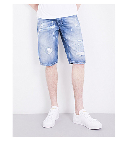 DIESEL Kroshort-ne relaxed-fit denim shorts (Blue