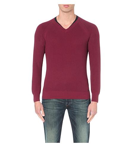 DIESEL K-sosty knitted sweater (Burgundy