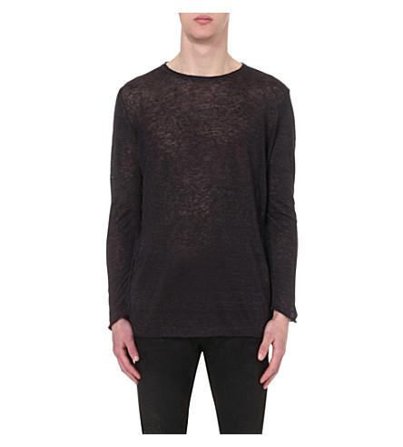 DIESEL K-Tiger linen-jersey jumper (Black