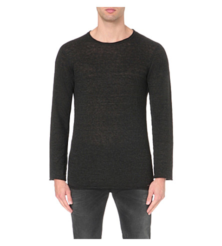 DIESEL K-tiger-a knitted jumper (Black