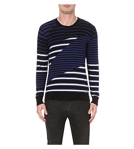 DIESEL K-Volucer cotton-jersey jumper (Blue
