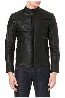 DIESEL Laleta leather jacket