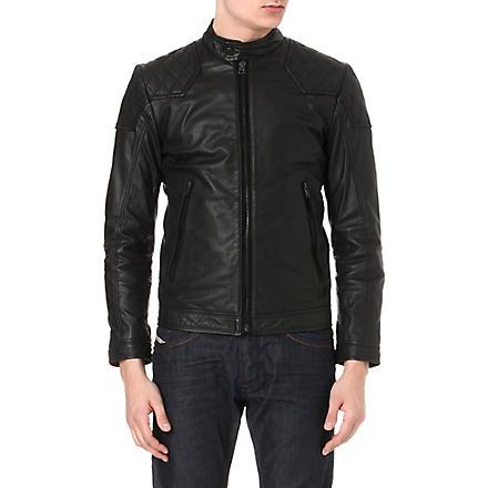 DIESEL Laleta leather jacket (900 (black)