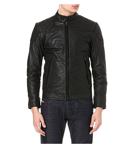 DIESEL Laleta leather jacket (900 (black)