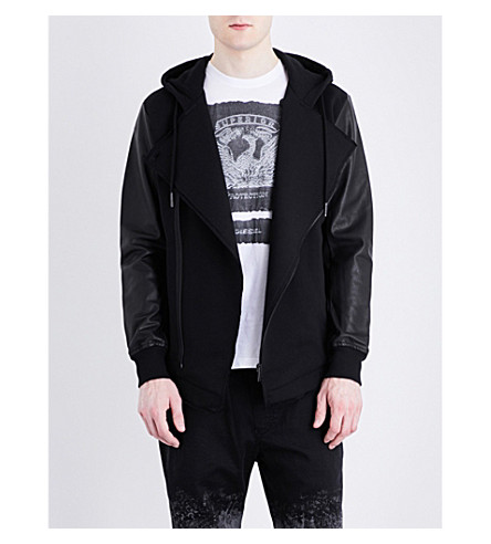 DIESEL L-Antique cotton-jersey jacket (Black
