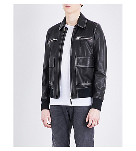 DIESEL L-boom leather jacket (Black