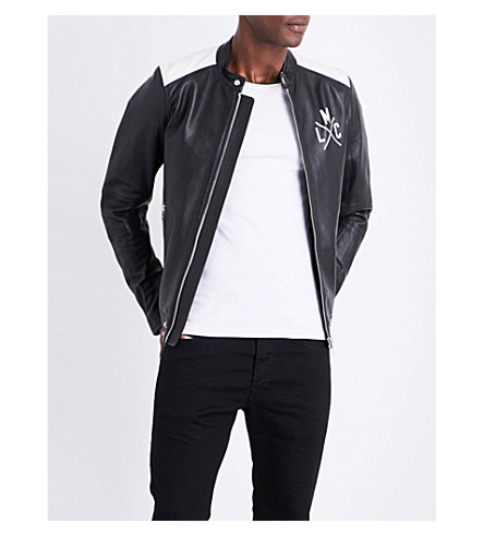 DIESEL L-Fyfe leather jacket (Black