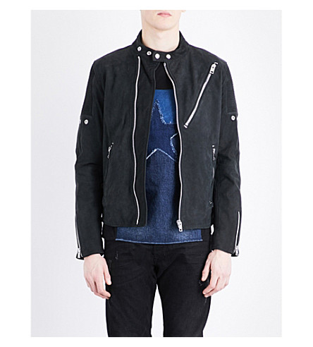 DIESEL L-Mackson suede jacket (Grey