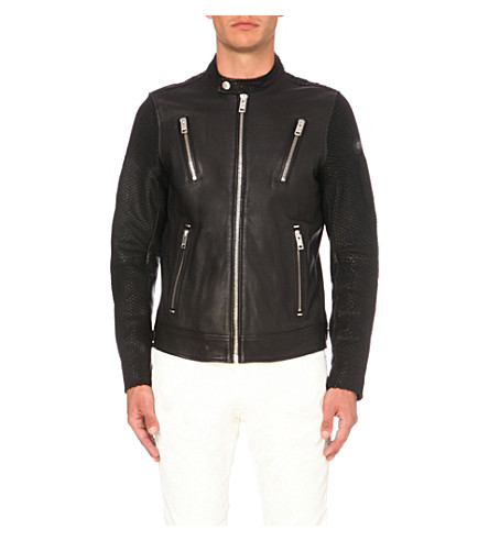 DIESEL L-Rambo leather jacket (Black