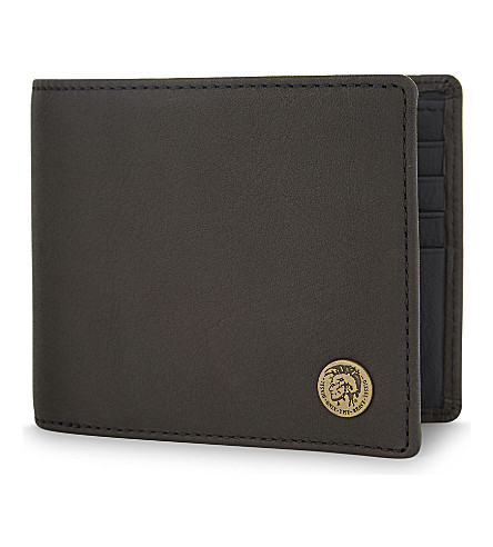 DIESEL Mohican seal leather wallet